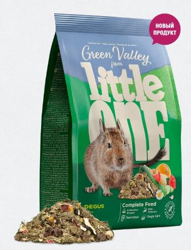Литтл Уан Корм беззерновой Green Valley Зеленая долина из разнотравья для дегу, 750 г, Little One