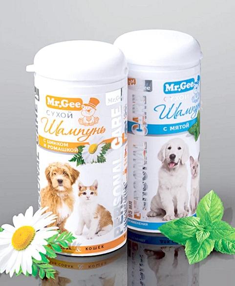 Мр.Джи Сухой шампунь для кошек и собак, в ассортименте, 95 мл, Mr.Gee
