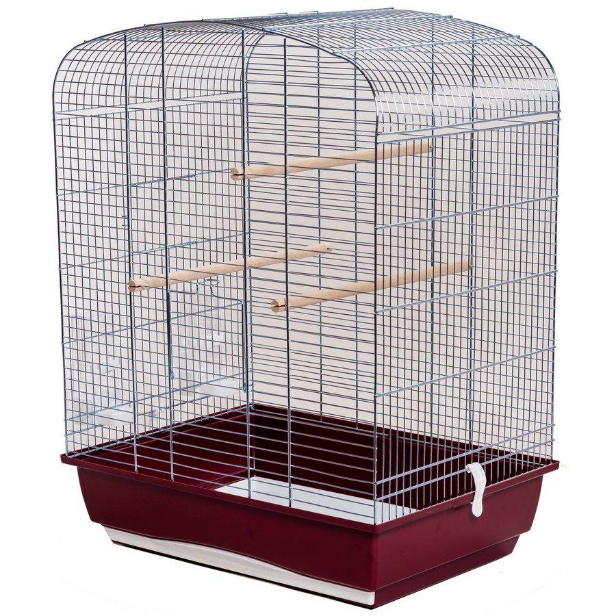ИнтерЗоо Клетка Elena P071 для птиц, 54*39*71 см, оцинкованные прутья, в ассортименте, InterZoo