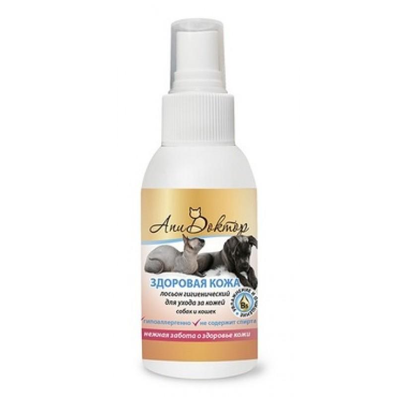 Апидоктор Лосьон гигиенический Здоровая кожа для очистки кожи собак и кошек, 100 мл, Пчелодар