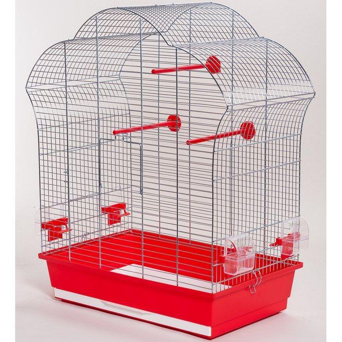 ИнтерЗоо Клетка Laura P304 для птиц, 60*34*71 см, оцинкованные прутья, поддоны в ассортименте, InterZoo
