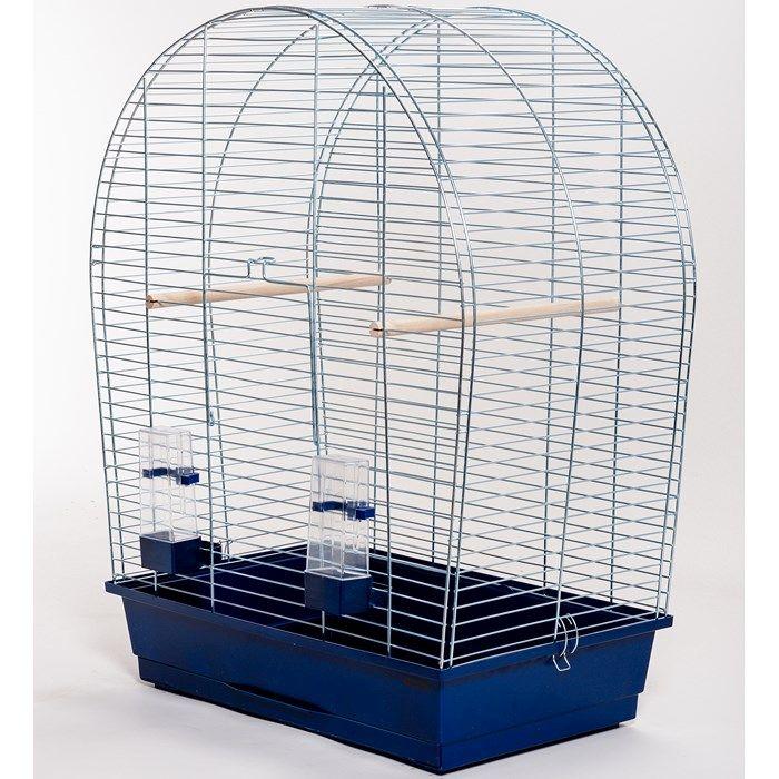 ИнтерЗоо Клетка Sylwia P308 для птиц, 59*34*75 см, оцинкованные прутья, поддоны в ассортименте, InterZoo