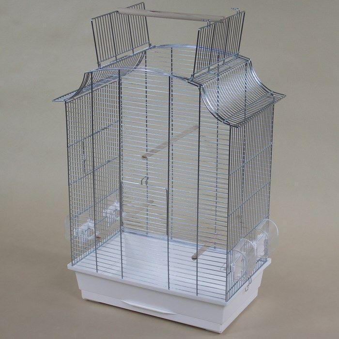 ИнтерЗоо Клетка Greta Cabrio P331 с открывающимся верхом для птиц, 49*30*65 см, оцинкованные прутья, поддоны в ассортименте, InterZoo
