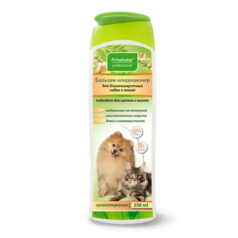 Пчелодар Бальзам-кондиционер для длинношерстных собак и кошек, 250 мл