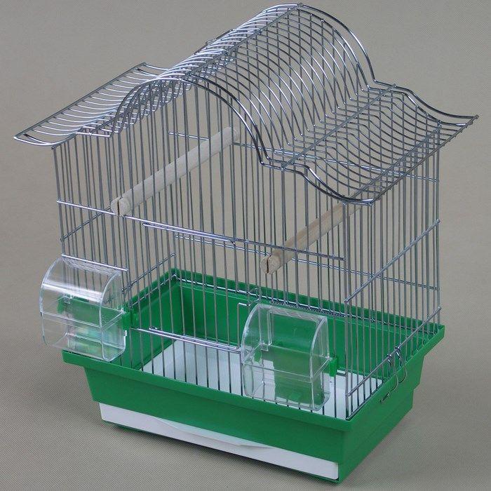 ИнтерЗоо Клетка Tiki P121 для птиц, 35*21*38 см, в ассортименте, InterZoo