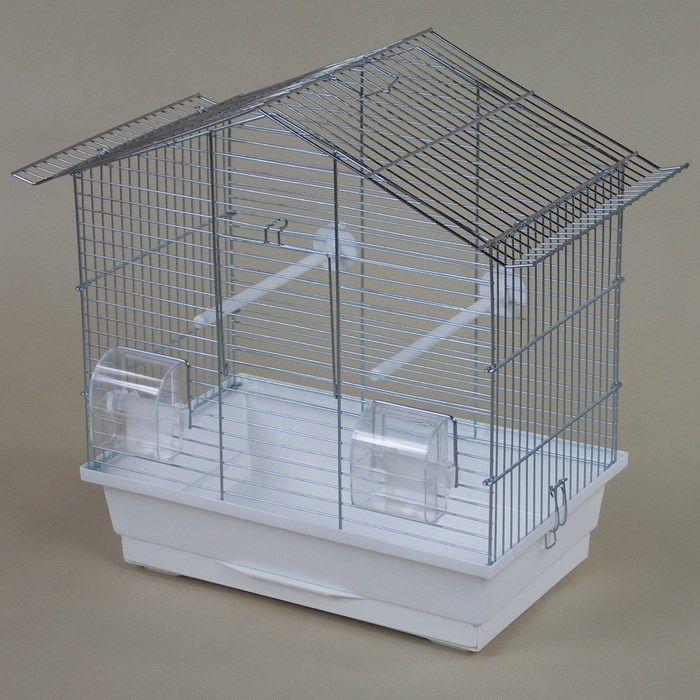 ИнтерЗоо Клетка Wiki Skladana P036 для птиц, 47*27*43 см, в ассортименте, оцинкованные прутья, InterZoo