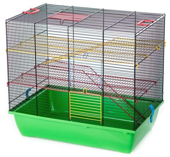 ИнтерЗоо Клетка Pigi 3 (Pinky 3) G066/315, 50*33*45 см для грызунов, в ассортименте, эмаль, InterZoo