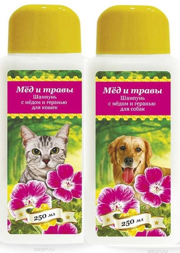 Пчелодар Шампунь с мёдом и геранью для кошек и собак, в ассортименте, 250 мл