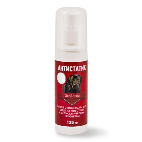 Пчелодар Спрей Антистатик ЗооАрена очищающий с антистатическим эффектом для шерсти животных, 125 мл