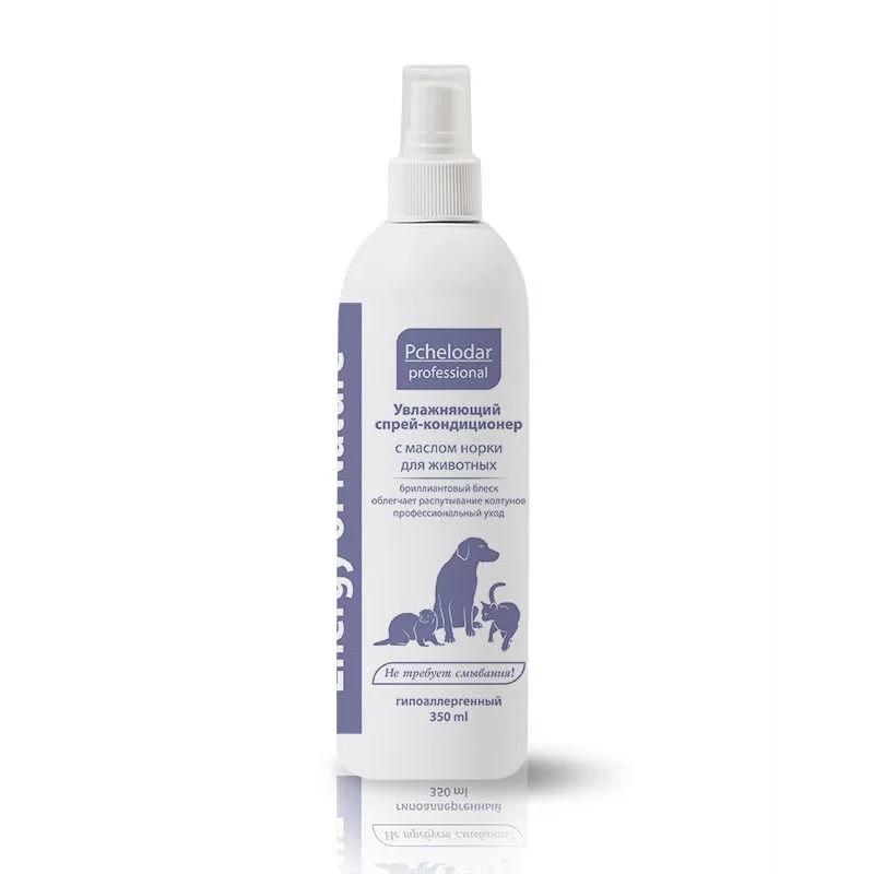 Пчелодар Спрей-кондиционер Energy of Nature Увлажняющий для распутывания колтунов с маслом норки для кошек и собак, 350 мл