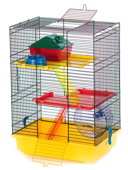 ИнтерЗоо Клетка Teddy 2 для грызунов, 37*25*51 см, в ассортименте, InterZoo