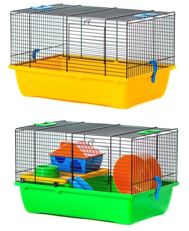 ИнтерЗоо Клетка Teddy Lux для грызунов, 43*28*23 см, в ассортименте, InterZoo
