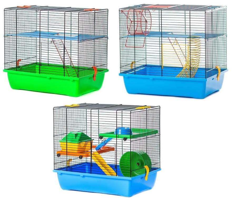ИнтерЗоо Клетка Teddy Lux 1 для грызунов, 43*28*38 см, в ассортименте, InterZoo