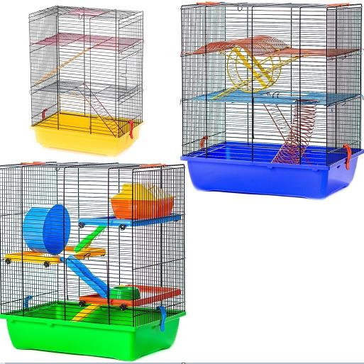 ИнтерЗоо Клетка Teddy Lux 2 для грызунов, 42*29*49 см, в ассортименте, InterZoo