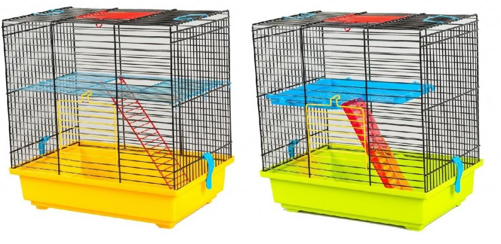 ИнтерЗоо Клетка Teddy 1 для грызунов, 37*25*38,5 см, в ассортименте, InterZoo