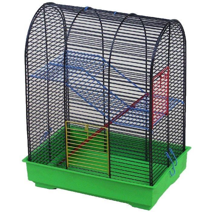 ИнтерЗоо Клетка Mimi с овальным верхом для грызунов, 30*20*38 см, в ассортименте, InterZoo