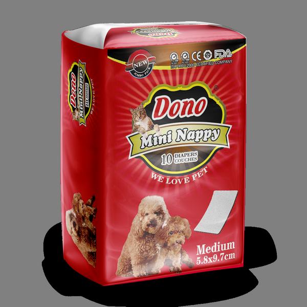 ПэтСофт Прокладки вкладыши Dono Mini Nappy в пояса и подгузники для животных, 5,8*9,7 см, 10 штук, Pet Soft