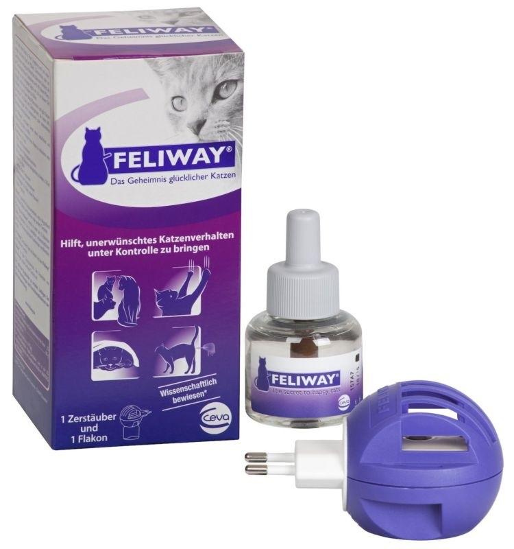 Сева Модулятор для нормализации поведения кошек Feliway (Феливей), флакон и диффузор, 48 мл, Ceva