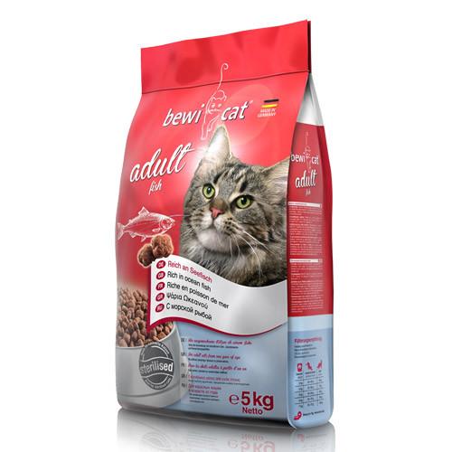 Беви Кэт Корм сухой Adult для кошек, Рыба, в ассортименте, BewiCat