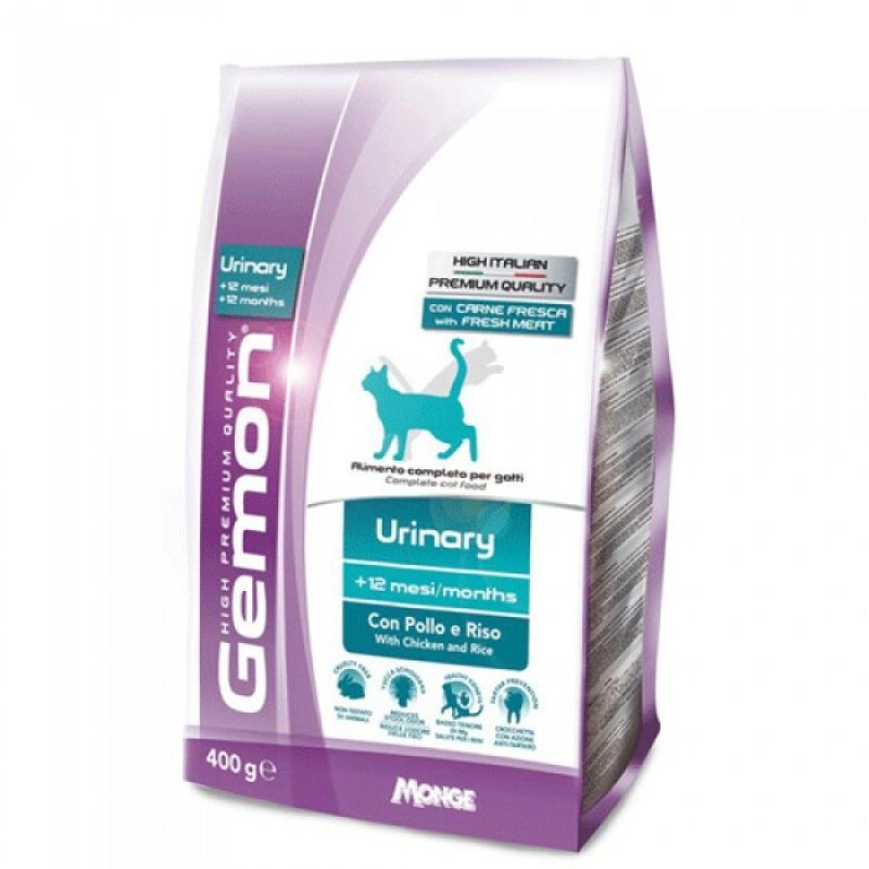 БОНУС Джемон Корм сухой Cat Urinary для кошек, профилактика МКБ, Курица/Рис, в ассортименте, Gemon