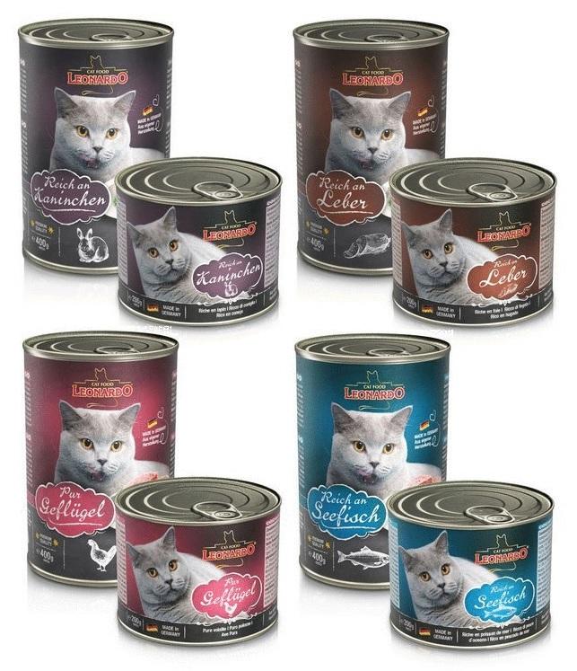 Леонардо Консервы Quality Selection для кошек, в ассортименте, Leonardo