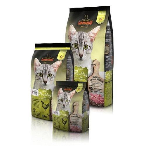 Леонардо Корм сухой беззерновой Adult Poultry GF для кошек, Птица, в ассортименте, Leonardo