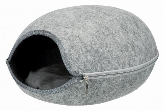 Трикси Домик-пещера Luna для собак и кошек, 40*46*24 см, фетр, Trixie