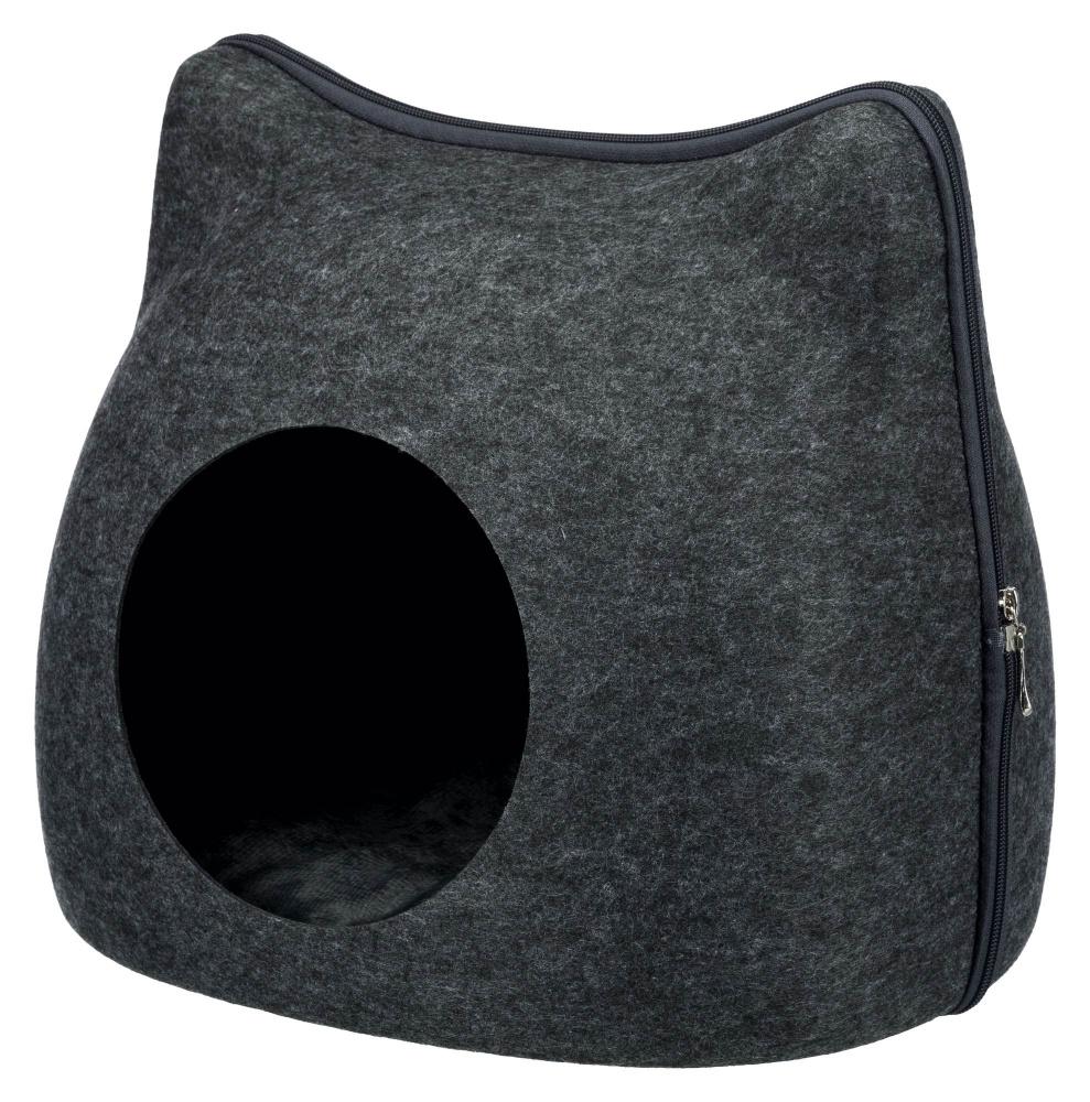 Трикси Домик-пещера Cat для собак и кошек, 38*37*35 см, флис, Trixie