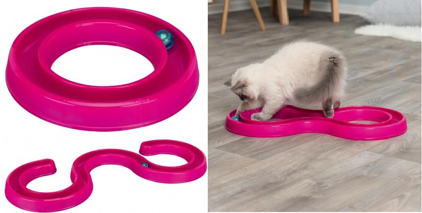Трикси Игровая дорожка Flashing Ball Race для кошек, 65*31 см, Trixie