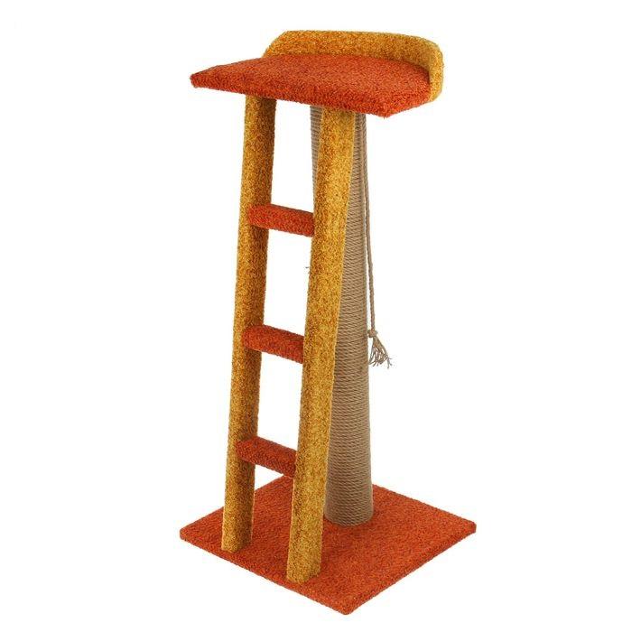 Персилайн Комплекс игровой коврово-джутовый для кошек Лестница, 50*40*100 см, в ассортименте, Perseiline