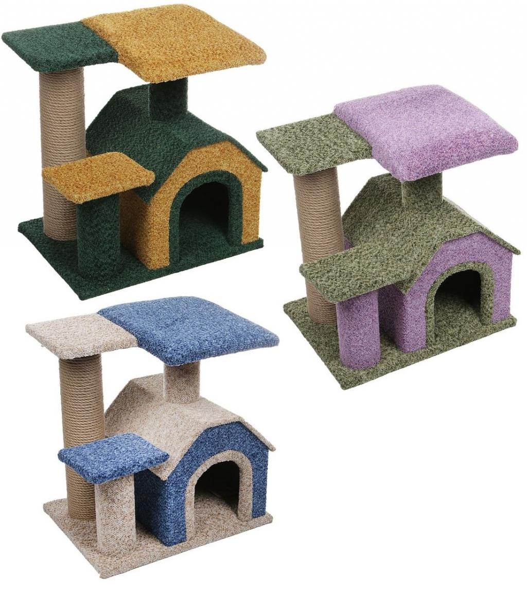 Персилайн Комплекс игровой коврово-джутовый Камея-3 для кошек, 50*40*50 см, Perseiline
