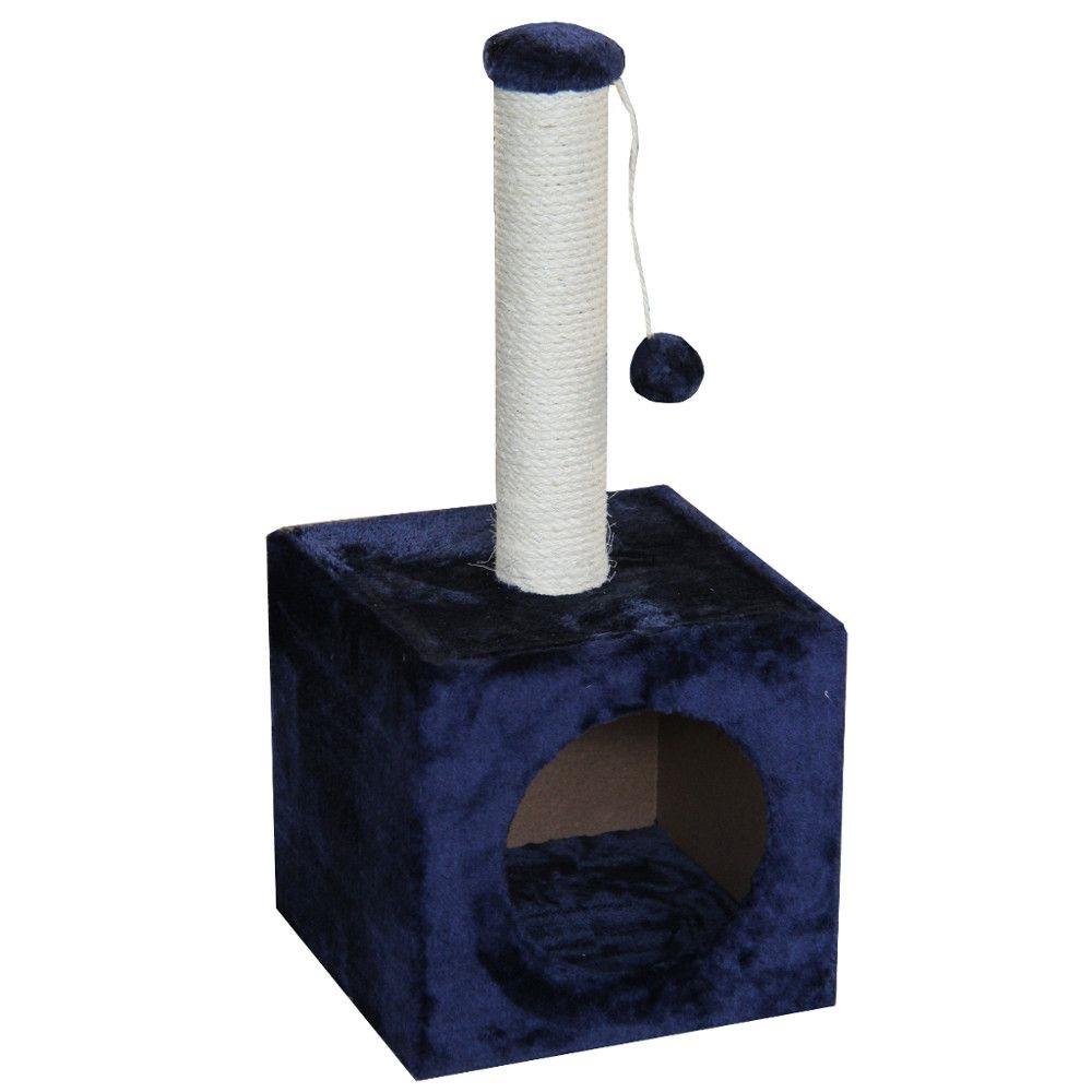 ПетЧойс Когтеточка-домик с столбиком и игрушкой, 31*31*67 см, Pet Choice