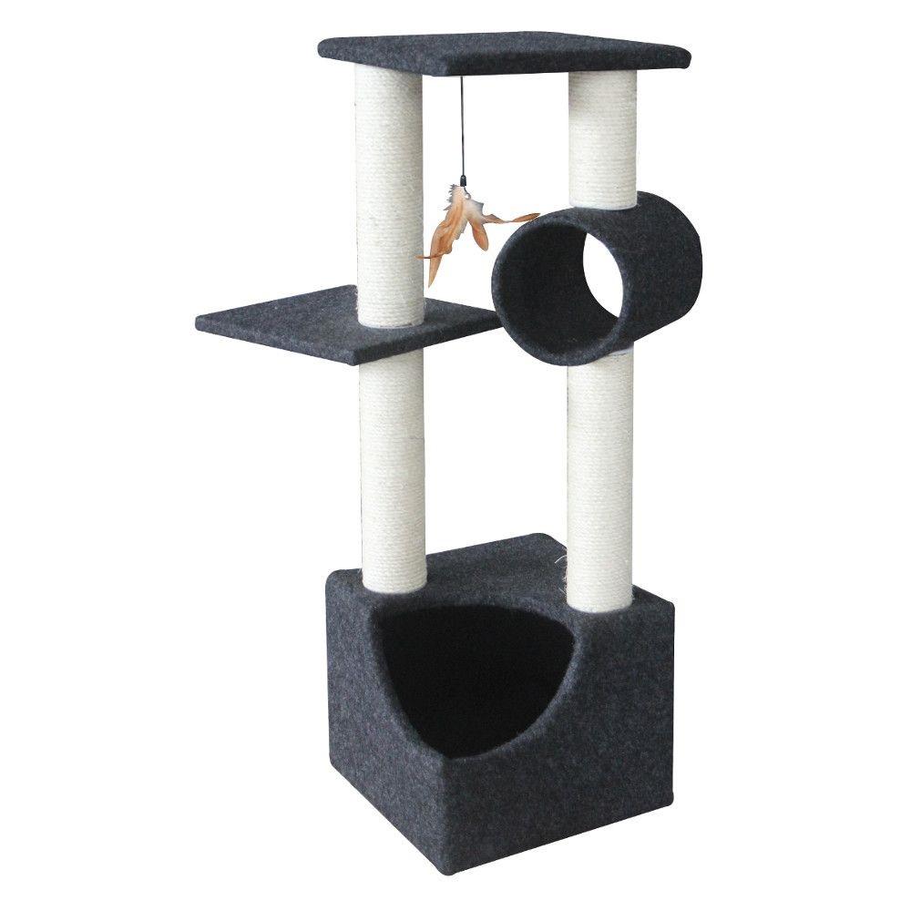 ПетЧойс Игровой комплекс SBE991 трехуровнеый с игрушкой, 35*35*105 см, Pet Choice