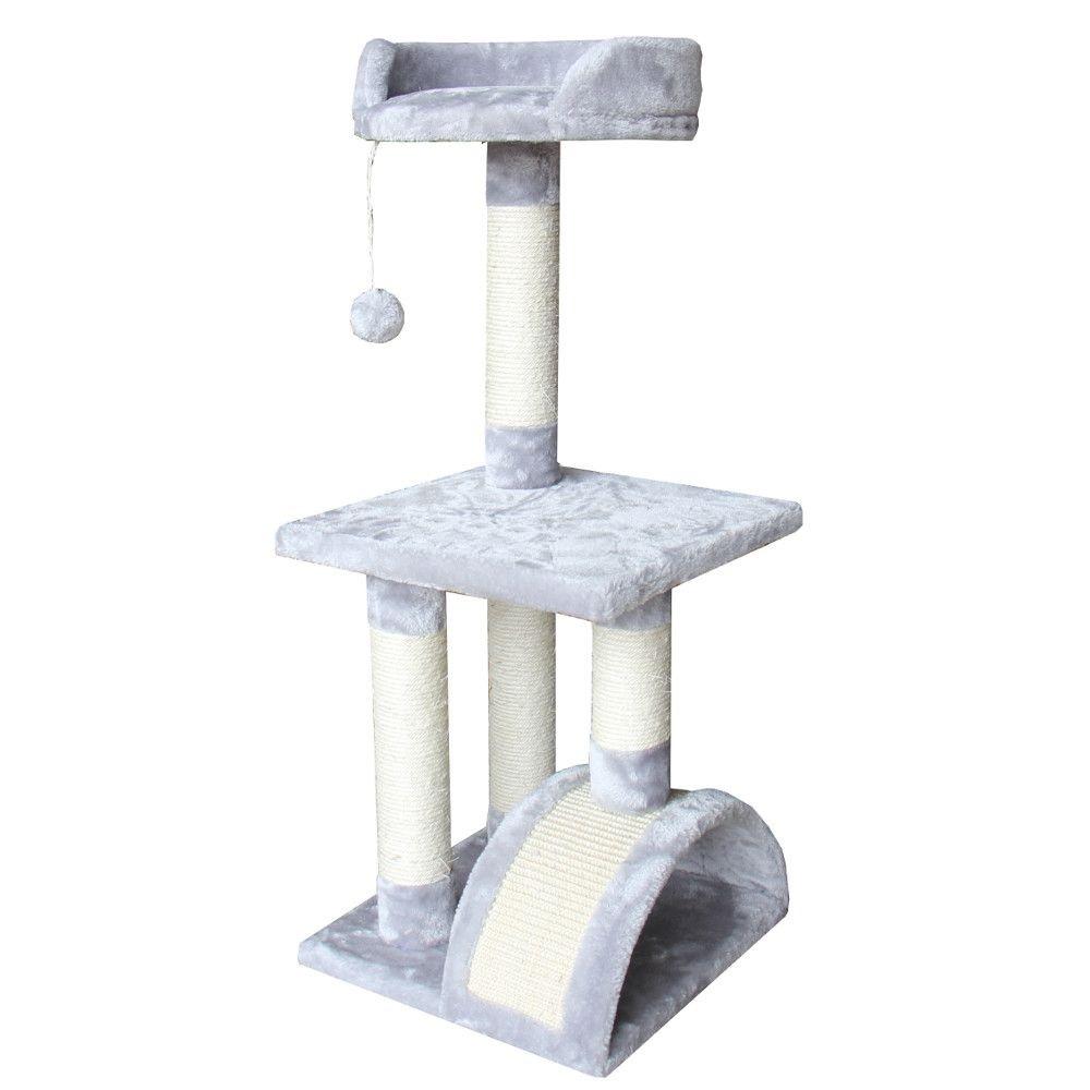 ПетЧойс Игровой комплекс SBE892 трехуровневый с аркой, 36*36*88 см, в ассортименте, Pet Choice