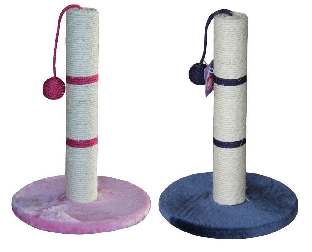 ПетЧойс Когтеточка-столбик с игрушкой, 30*30*45 см, в ассортименте, Pet Choice