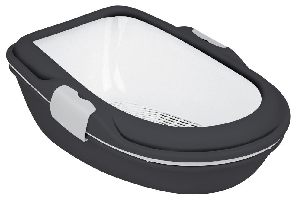 Трикси Туалет-лоток с бортиком Berto XL для кошек, 47*69*26 см, Trixie