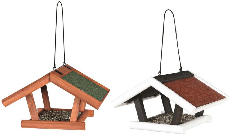 Трикси Кормушка для птиц и грызунов подвесная уличная, 30*28*18 см, в ассортименте, дерево, Trixie