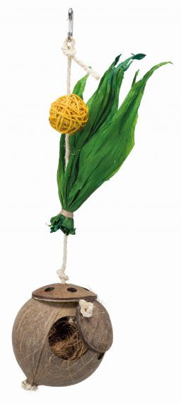 Трикси Гнездо из кокоса на сизалевой веревке для птиц, 35 cм, Trixie