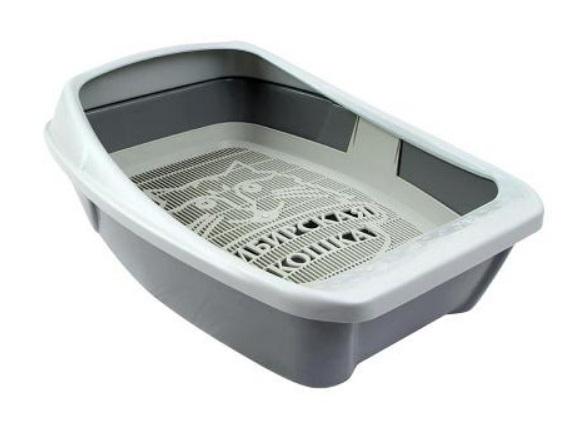 Сибирская Кошка Туалет-лоток Евро глубокий для кошек, 44*32 см, в ассортименте