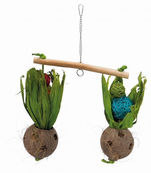 Трикси Качели Весы для птиц, 30*50 cм, кокос/ива/кукуруза, Trixie