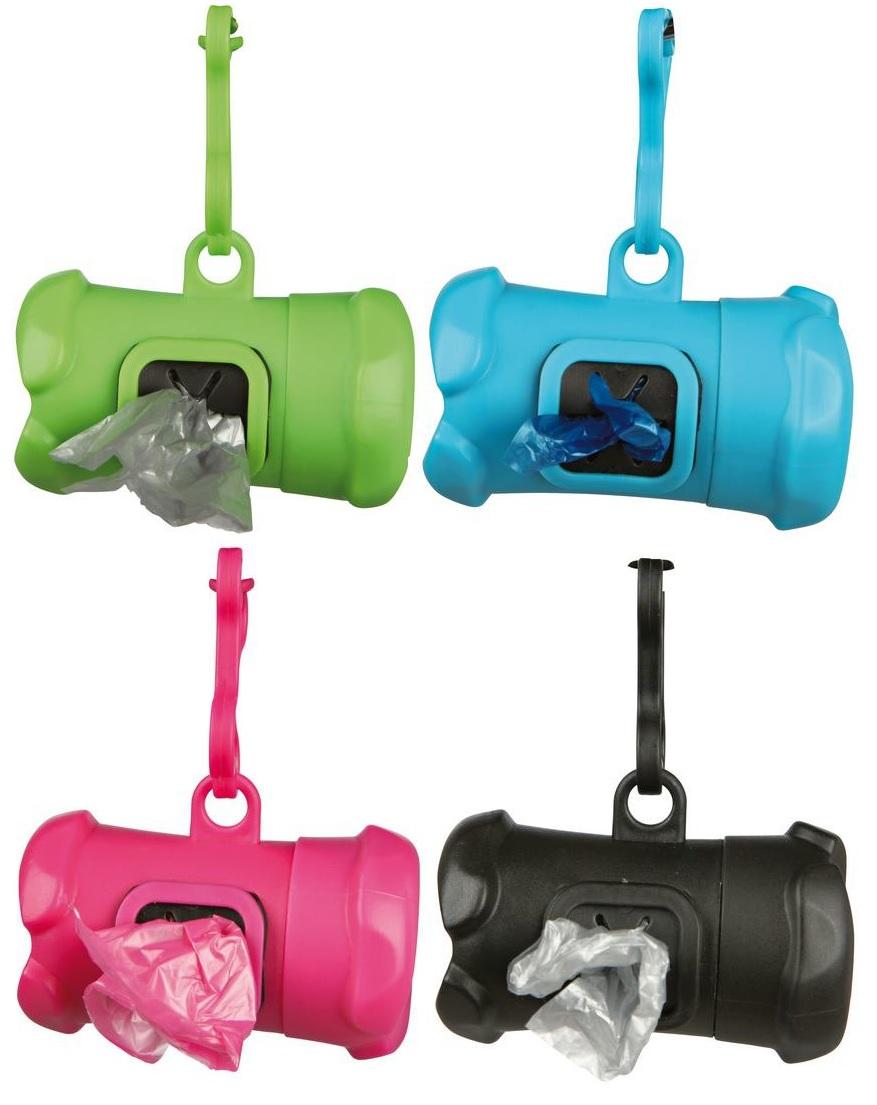 Трикси Контейнер для уборочных пакетов за животными с 15 пакетами, 3 л, пластик, Trixie