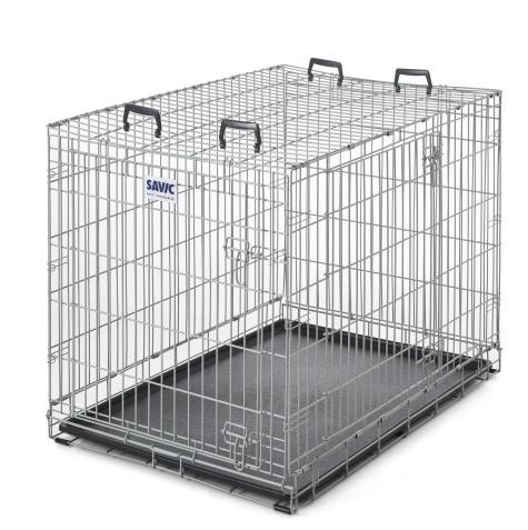 Савик Клетка Dog Residence с пластиковым поддоном, в ассортименте, серая эмаль, Savic