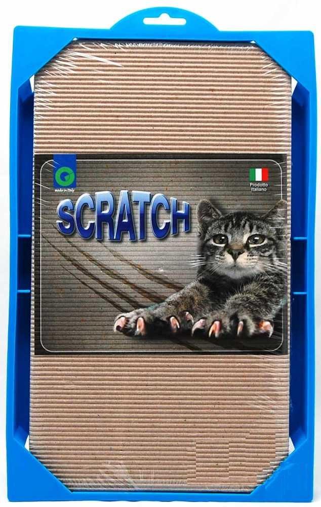 Георпласт Когтеточка Scratch для кошек, пластик/гофрокартон, 37*23*3,5 см, GeorPlast