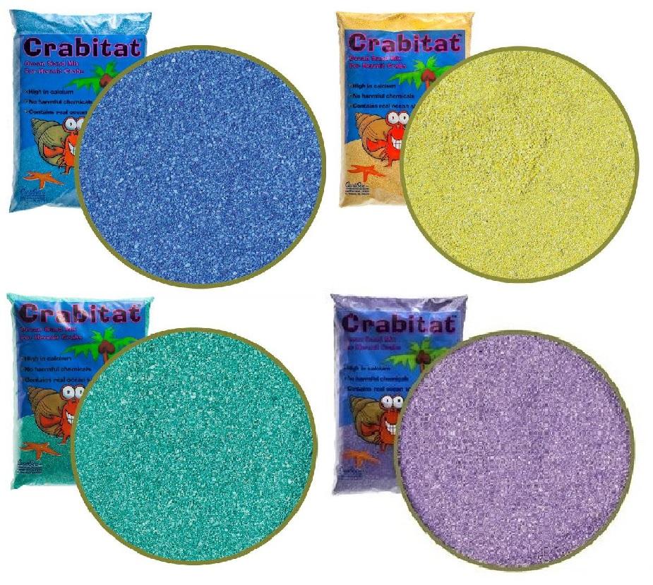 КарибСеа Песок Crabitat для раков-отшельников, в ассортименте, 1 кг, CaribSea