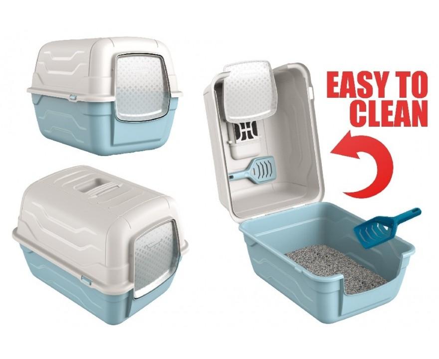 Георпласт Туалет-бокс Roto-Toilet с фильтром и совком, 52*40*40 см, в ассортименте, GeorPlast