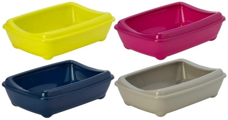 Модерна Туалет-лоток Arist-o-tray c бортом для кошек, 43*30*12 см, в ассортименте, Moderna