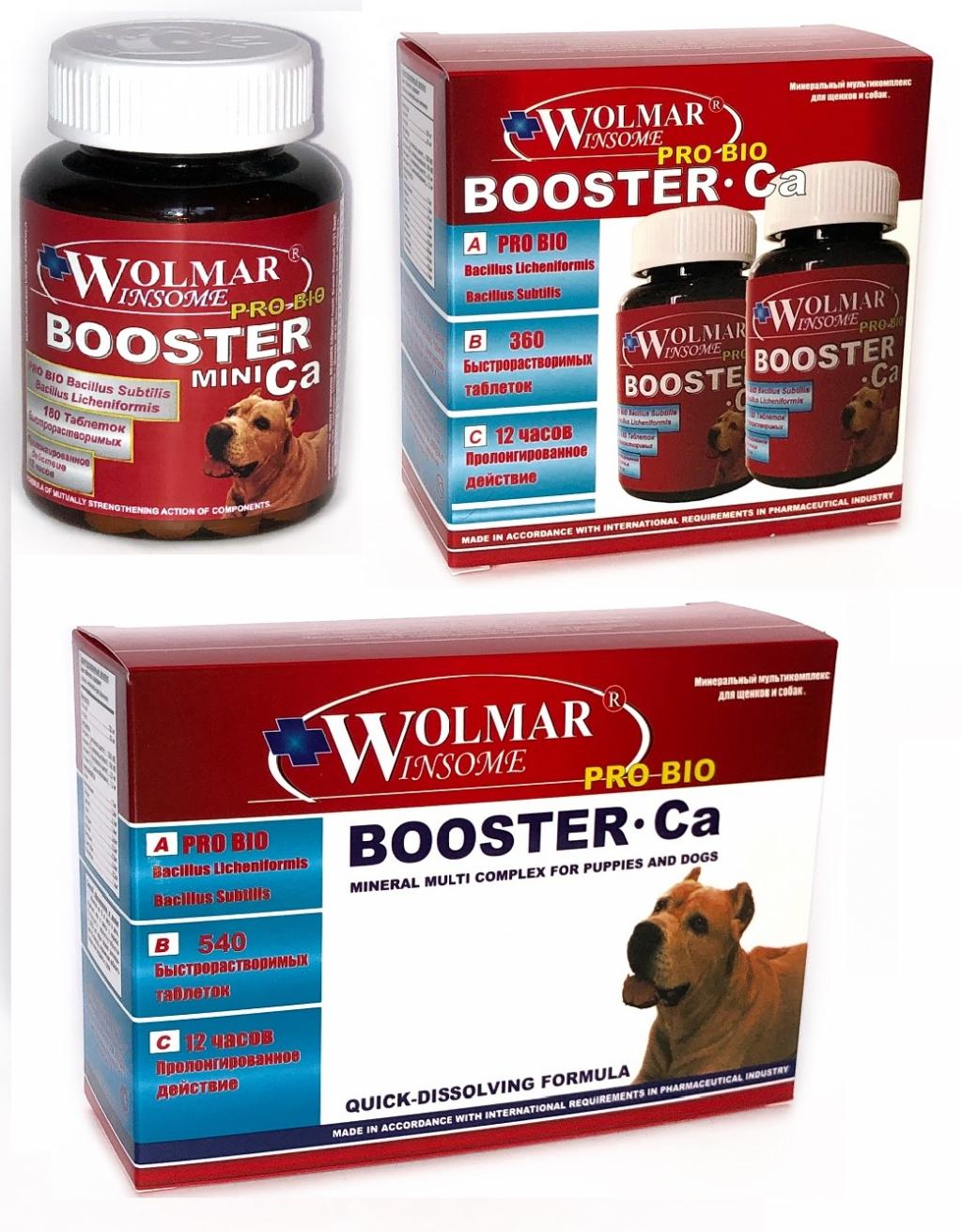 Волмар Винсом Мультикомплекс Pro Bio Booster Ca для щенков и собак крупных пород, в ассортименте, Wolmar Winsome