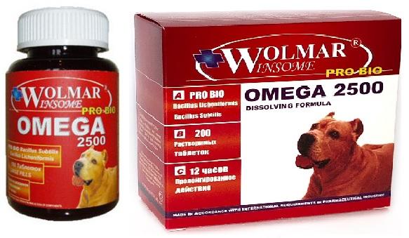 Волмар Винсом Мультикомплекс Pro Bio Omega 2500 для собак средних и крупных пород, 200 шт, Wolmar Winsome