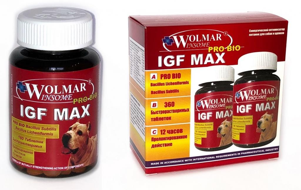 Волмар Винсом Комплекс Pro Bio IGF Max для увеличения мышечной массы у щенков и собак крупных пород, в ассортименте, Wolmar Winsome