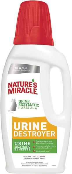 8in1 Уничтожитель пятен, запахов и осадка от мочи кошек NM Urine Destroyer, 950 мл